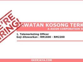 Jawatan Kosong A-Asign Corporation Sdn Bhd (1)