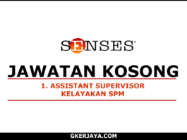 Jawatan Kosong Assistant Supervisor Senses Malaysia (1)