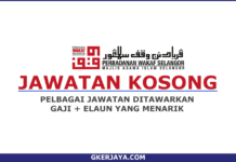 Jawatan Kosong Terkini Selangor Perbadanan Wakaf Selangor (1)