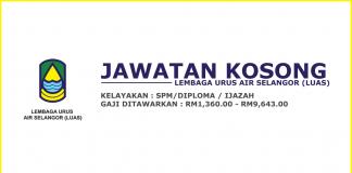 Jawatan Kosong Urus Air Selangor