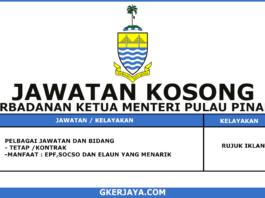 Kerja Kosong Kerajaan Negeri Pulau Pinang Terkini (1)
