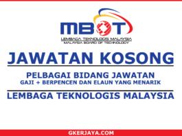 Kerja Kosong MBOT Lembaga Teknologis Malaysia