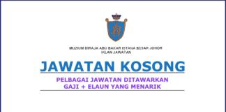 Kerja Kosong Muzium Diraja Abu Bakar Istana Besar Johor