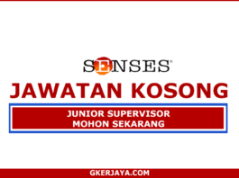 Kerja Kosong Senses Junior Supervisor (1)