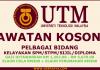 UTM Career Iklan Jawatan Kosong Universiti Teknologi Malaysia